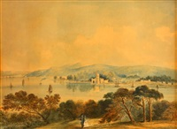 view of blackrock castle, cork by john e. bosanquet