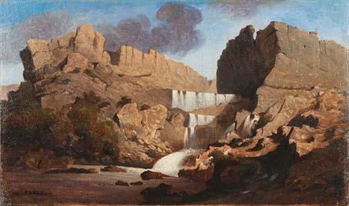 les chutes de rummel, constantine by charles théodore (frère bey) frère