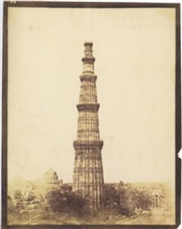qutub minar, delhi by thomas biggs