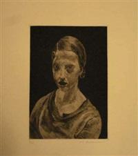 visages. aux dépens des cinq-vingt (bound volume; 14 works) by jean louis boussingault