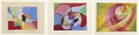 sans titre (7 works) by marcel valentin