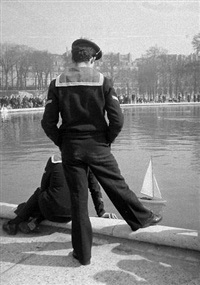 marins aux tuileries by françois lartigue