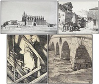 the cathedral, palma (+ 3 others, various sizes; 4 works) by robert sargent austin