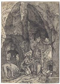 der hl. hieronymus in der höhle by albrecht altdorfer