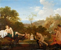 nymphen beim bade by cornelis van poelenburgh