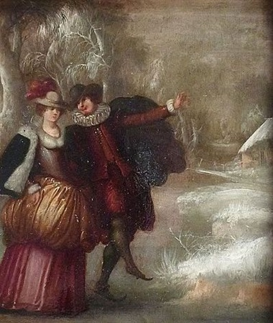 les patineurs by louis de caullery