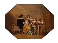 scène d'intérieur by palamedes palamedesz the elder