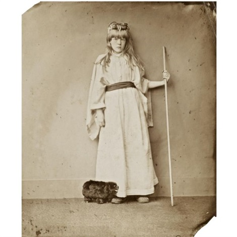 alice margaret price as a shepherdess by lewis charles lutwidge dodgson carroll