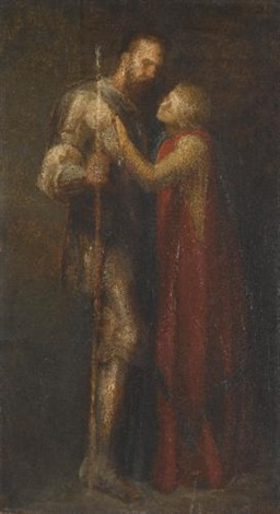 knight and maiden by george frederick watts