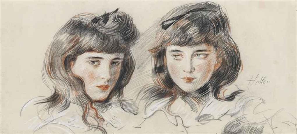studies of ellen the artists daughter by paul césar helleu