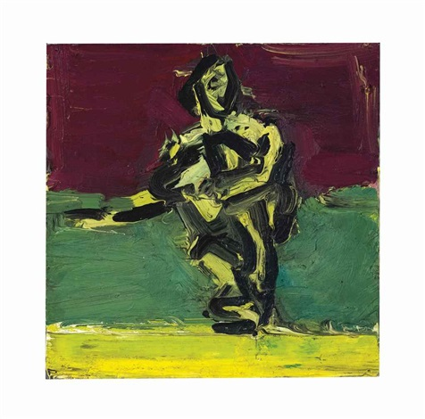 sitting figure by frank auerbach