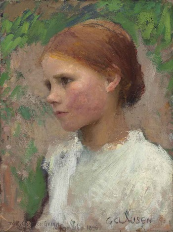 a village girl rose grimsdale by sir george clausen