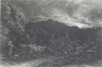 the weary ploughman by samuel palmer