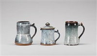 tankards (irgr; set of 3) by ladi kwali
