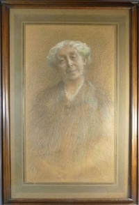 portrait de vieille femme, mme benoist by ernest joseph laurent