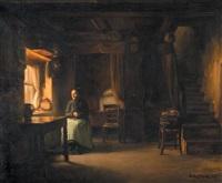 femme dans un intérieur by franck antoine bail