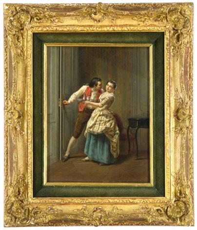 versuchung - flirt mit einer dienerin by théophile emmanuel duverger