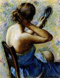 mujer peinándose by ramon ribas rius