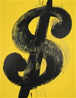 dollar sign (yellow) by andy warhol