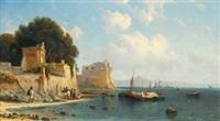 coastline near sorrento by aleksei petrovich bogolyubov