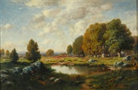 autumn landscape by c.e. picault