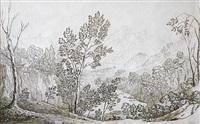 paysage prés de saint sauveur by henrietta anne fortescue