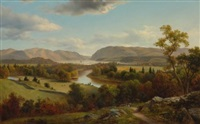 view from new windsor, hudson river by david johnson
