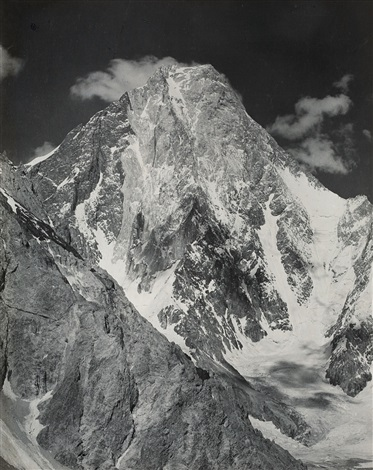 the gasherbrum taken from the occidental spur by vittorio sella