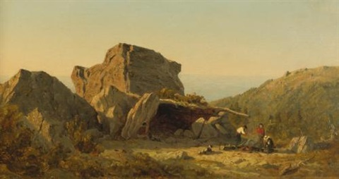 the camp on mansfield mountain vermont by sanford robinson gifford