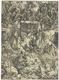 the seven angels with trumpets by albrecht dürer