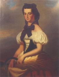 portrait einer dame by l cayetan