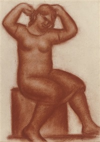 a seated women by marcel (antoine) gimond