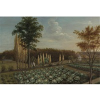 cabbage patch, the gardens of belfield, pennsylvania by charles willson peale