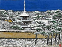 snowscape in yamatoji by sumio goto