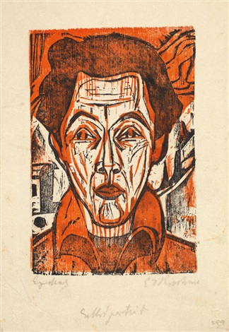 selbstportrait another verso by ernst ludwig kirchner