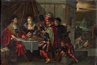 lazare et le mauvais riche by frans francken iii