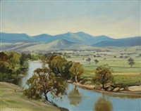 summer at gundagai, nsw by dermont james hellier