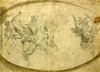 l'archange gabriel chassant les anges rebelles by giuseppe simonelli