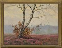 a lonely birch by józef rapacki