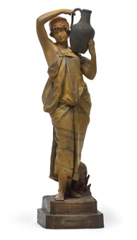 figur porteuse de vase by goldscheider (co.)