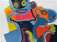 personnage avec animal by karel appel