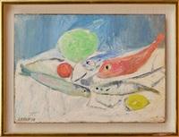 nature morte aux poissons by andré lanskoy