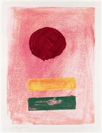 pink ground by adolph gottlieb