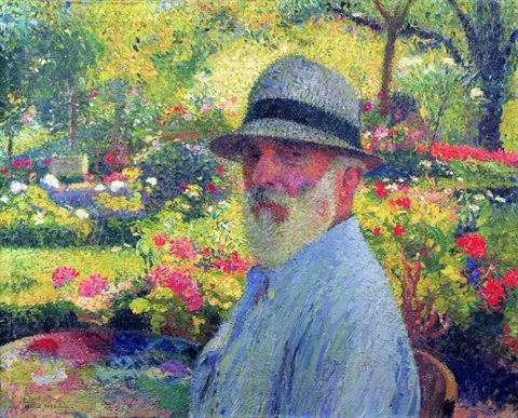 Autoportrait de lartiste dans son jardin by henri jean for Bruler dans son jardin