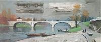 puente sobre el sena by federico lloveras herrera