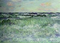 marine (étude de mer) by claude monet