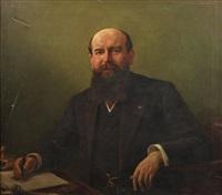 portrait de m. mesnil by françois cormon