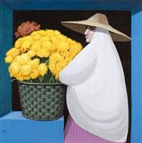 cesto con flores by manuel de las casas