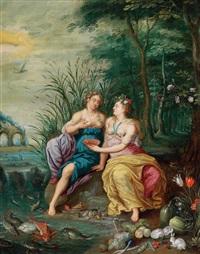 allegorie des wassers und der erde by jan brueghel the younger