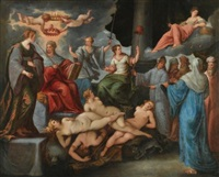 triumph of the virtues over the vices by paolo fiammingo dei franceschi